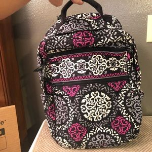 VERA BRADLEY LAPTOP BACKPACK CANTERBERRY MAGENTA